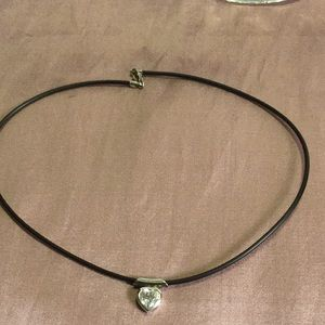 925 Choker Necklace w/ 925 Heart